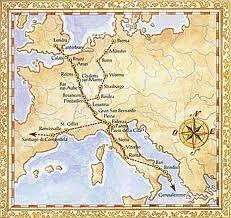 Via Francigena Mappa Antica