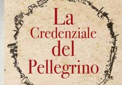 raffigura la copertina della credenziale del pellegrino della Via Francigena