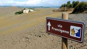 Belle colline toscane sulla Via Francigena