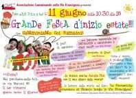 Cartolina Festa Camminiamo coi Bambini