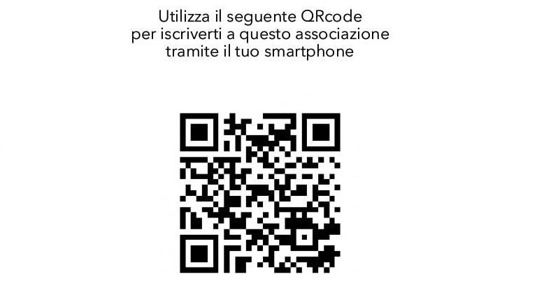 qr code per iscrizione on line dei soci