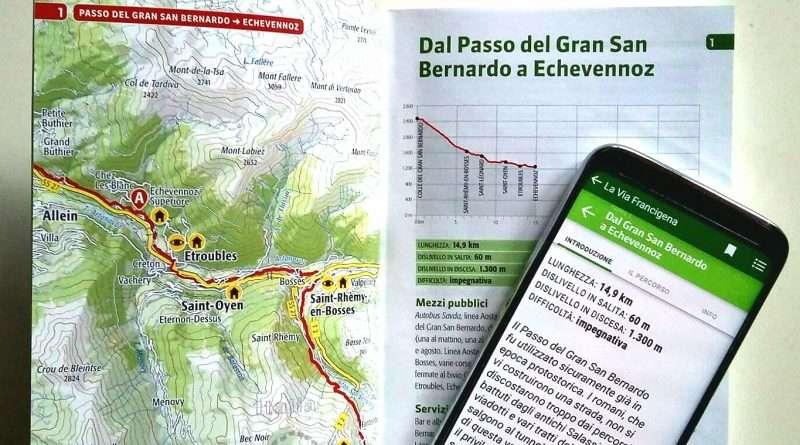 guida cartacea e digitale della Via Francigena