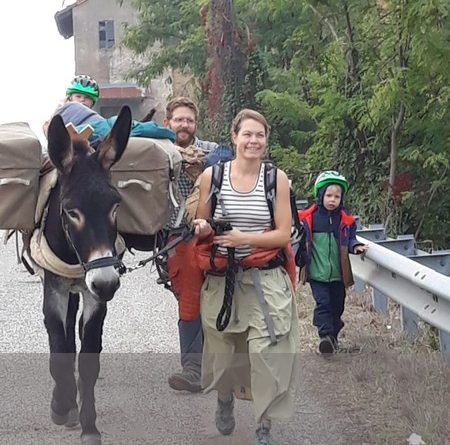 Un bell'esempio di una Famiglia francese sulla Via Francigena…